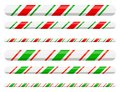 Candy cane line border divider for christmas design on