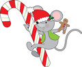 Candy Cane Mouse Royalty Free Stock Image