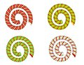 Candy Cane Swirls and Spirals Stock Images