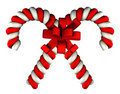 Candy cane on white background Royalty Free Stock Photos