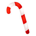 Candy cane on white background Royalty Free Stock Images