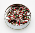 Candy canes in can Stock Image