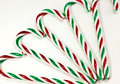 Candy canes a closeup of colorful on a white background Royalty Free Stock Photo