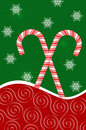 Candy Canes and Snowflakes Royalty Free Stock Photography