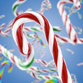 Candy christmas cane d illustration Stock Images