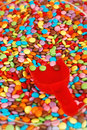Candy coated Royalty Free Stock Photo