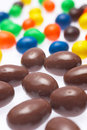 Candy coated chocolate drops Stock Photography