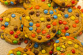 Candy Coated Chocolate Piece Cookies Royalty Free Stock Photo