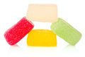 Candy coloured jelly white background Stock Image