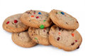 Candy cookies shot of several isolated over white Stock Image