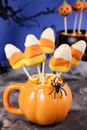 Candy corn cake pops Royalty Free Stock Photos