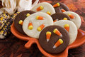 Candy Corn Cookies Stock Image