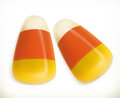 Candy corn 3d vector Royalty Free Stock Photo