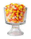 Candy Corn in a Dessert Glass Royalty Free Stock Photo