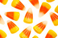 Candy corn isolated on white a pure background Stock Images