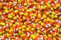 Candy corn popular sweets close up Stock Photo