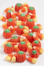 Candy Corn & Pumpkins Stock Photo