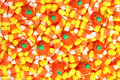 Candy corn and pumpkins Royalty Free Stock Photography