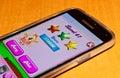 Candy crusha saga zagreb croatia february close up of crush game application on samsung galaxy smartphone product shot Stock Photos