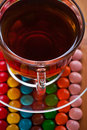 Candy, cup of (tea, coffee) Royalty Free Stock Image
