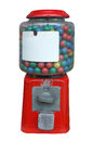 Candy dispenser, Gum ball machine, Vending machine with white empty label Royalty Free Stock Photo
