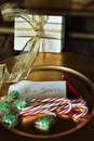 Candy and Gift for Santa Claus Royalty Free Stock Photography