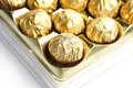 Candy in golden foil Royalty Free Stock Photo