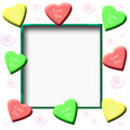 Candy hearts scrapbook Stock Images