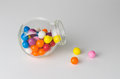 Candy jar over white background Stock Photo