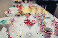Candy jar at wedding celebration Royalty Free Stock Photo