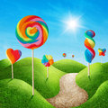 Candy land fantasy sweet with lollies Royalty Free Stock Photography