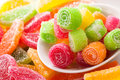 Candy mix citrus sweet fruit Stock Images