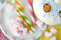 Candy party marshmallow colorful wafer stick Royalty Free Stock Photography