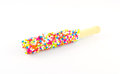 Candy rainbow appetizer food stick Stock Photo