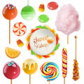 Candy set. 3d vector icon Royalty Free Stock Photo