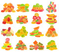 Candy set isolated on white background Royalty Free Stock Photo