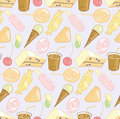 Candy shop seamless pattern Stock Photos