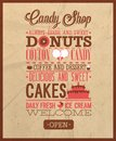 Candy shop text. Royalty Free Stock Photo