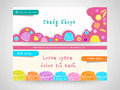 Candy shop web header or banner set. Royalty Free Stock Photo