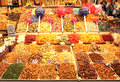 Candy stand la boqueria barcelona spain photo shot november Stock Photo