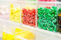 Candy store different gummy candies in a Royalty Free Stock Photos