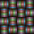Candy stripe weave Royalty Free Stock Photo
