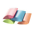 Candy striped boxes isolated over white background Royalty Free Stock Photo