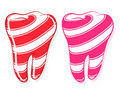 Candy Striped Teeth idiom sweet tooth Royalty Free Stock Photo