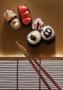 Candy sushi dish Royalty Free Stock Photo