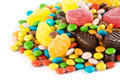 Candy sweets and chocolates closeup Royalty Free Stock Photos