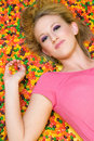 Candy Woman Royalty Free Stock Photography