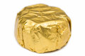 Candy Wrapped In Golden Foil Royalty Free Stock Photo