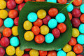Candys background of multi colored Stock Photos