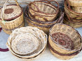 Cane baskets Royalty Free Stock Photo